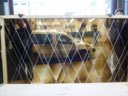Vitraux civils, Création de vitraux pour le designer Tristan Auer, destinés à l'architecture intérieure d'un hôtel parisien en 2017., photographie : © Atelier Simon-Marq